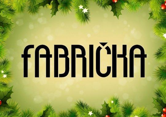 FABRIČKA - vánoční stánek před fabrika hotelem otevřen