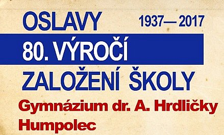 Oslavy 80. výročí založení Gymnázia Humpolec