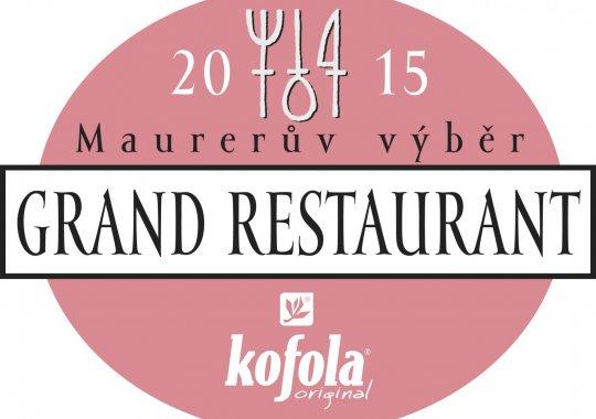 fabrika restaurant v užším výběru Maurerova výběru Grand Restaurant 2015