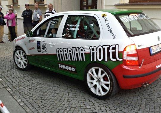 Rallye Humpolec - Fabia RS podporována fabrika hotelem dojela na 7. místě